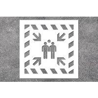 Sammelstelle - Rettungszeichen-Schablonen zur Boden- und Wandmarkierung