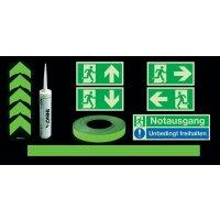 Basic Fluchtwegkennzeichnug Set, langnachleuchtend, ASR A3.4/3, ISO 3864 1-4, ISO 16069, DIN EN ISO 7010