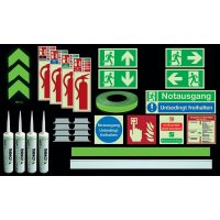 Premium Fluchtwegkennzeichnug Set, langnachleuchtend, ASR A3.4/3, ISO 3864 1-4, ISO 16069, DIN EN ISO 7010