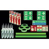 Standard Fluchtwegkennzeichnug Set für Treppen, langnachleuchtend, ASR A3.4/3, ISO 3864 1-4, ISO 16069, DIN EN ISO 7010