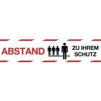 """Antirutsch-Bodenmarkierung """"ABSTAND ZU IHREM SCHUTZ"""""""