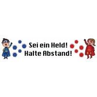 Sei ein Held! Halte Abstand! m/w - SetonWalk Bodenmarkierung, R10 nach DIN 51130/ASR A1.5/1,2