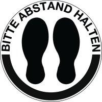 BITTE ABSTAND HALTEN, rund - SetonWalk Bodenmarkierung, R10 nach DIN 51130/ASR A1.5/1,2
