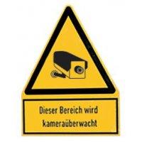 Bereich wird kameraüberwacht - Videokennzeichnung, Kombischilder, Hochformat