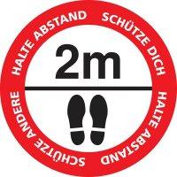 HALTE ABSTAND - SCHÜTZE ANDERE, rund - SetonWalk Bodenmarkierung, R10 nach DIN 51130/ASR A1.5/1,2