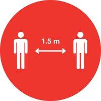 Bitte halten Sie zueinander Abstand - SetonWalk Bodenmarkierung, R10 nach DIN 51130/ASR A1.5/1,2
