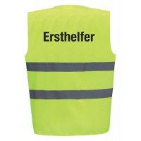 """Warnweste mit """"Ersthelfer"""" Sicherheitstext"""
