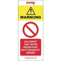 Scafftag® MK Einsteckschilder Verbotszeichen