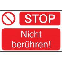 STOP! Nicht berühren! - Lockout Tagout Maschinenkennzeichnung