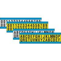 Buchstaben und Ziffern aus Baumwollgewebe (vinylbeschichtet), wiederablösbar, Zeichenkombinationen, Packungen