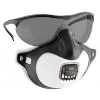 JSP® Augen- und Atemschutz mit Ausatemventil, FFP3, EN 149, EN 166, EN 172