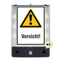 Allgemeines Warnzeichen - SETON Schild-Wächter, Bewegungsmelder mit Sprachausgabe & LED-Licht