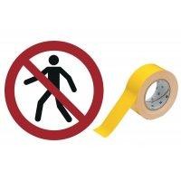 Für Fußgänger verboten - BRADY Bodenmarkierungsband mit Sicherheitszeichen