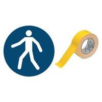 Fußgängerweg benutzen - BRADY Bodenmarkierungsband mit Sicherheitszeichen