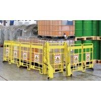 Warnung vor elektrischer Spannung - EasyProtect Absperrgitter mit Warnhinweisen