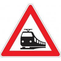 Unbeschrankter Bahnübergang - Verkehrszeichen für Deutschland, StVO, DIN 67520