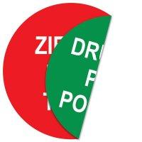 Ziehen Pull Tirez/Drücken Push Poussez - Tür- und Fensterschilder, doppelseitig