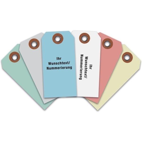 Anhängeetiketten aus Manilakarton, individuell, farbig