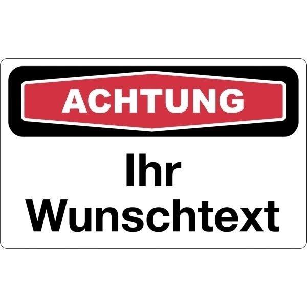 Focus-Schilder mit Design und Text nach Wunsch