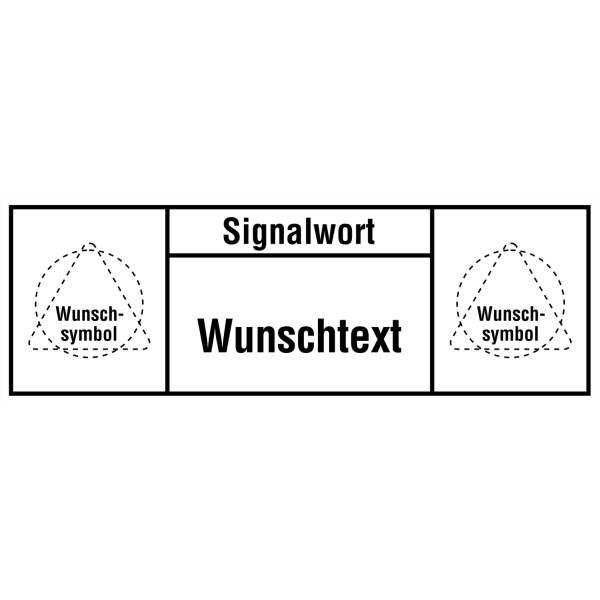 Maschinenkennzeichnung mit 2 Symbolen, individuell, DIN ISO 3864