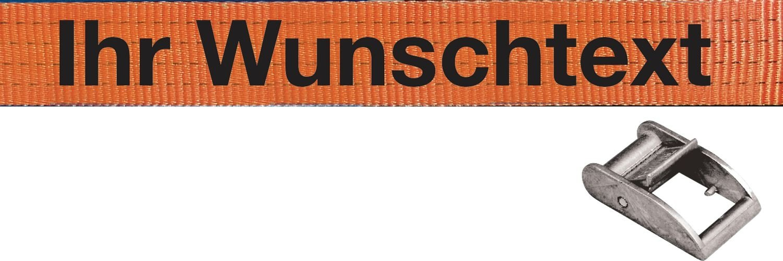 Spanngurte mit Text nach Wunsch, DIN EN 12195/2