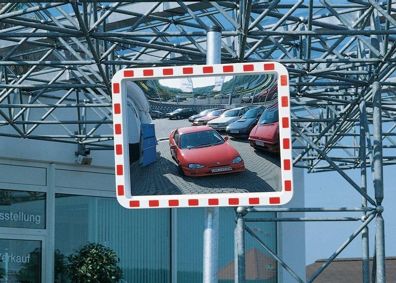 Verkehrsspiegel aus Acrylglas, mit Heizung