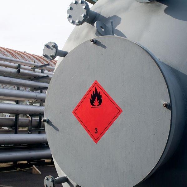 Oben - Aufkleber für den Transport gefährlicher Güter, GGVSEB, ADR, RID, IMDG, GGVSee, ADN - Versandaufkleber