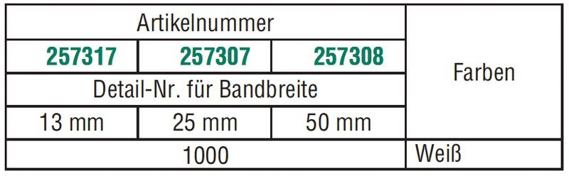 BRADY HandiMark-Vinylbänder, manipulationssicher