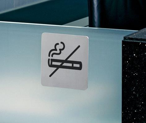DURABLE Rauchen verboten - Design-Piktogrammschilder, rund