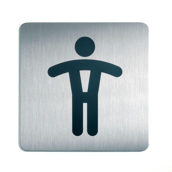 WC Herren - DURABLE Design-Piktogrammschilder, quadratisch