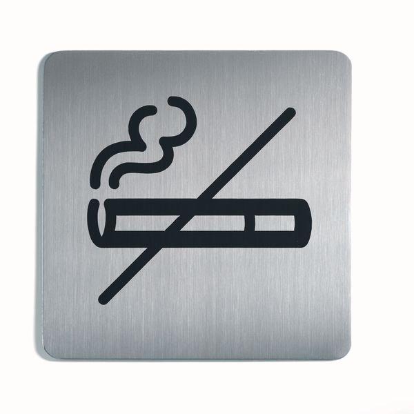 Alu- / Edelstahl-Symbol-Schilder Rauchen verboten