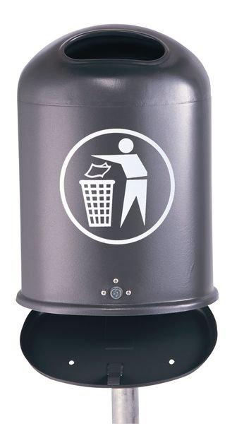 Außen-Abfallbehälter aus Stahlblech