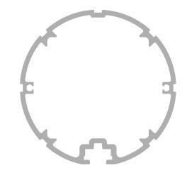 Ständerprofile, rund für Paneel-Außenaufsteller