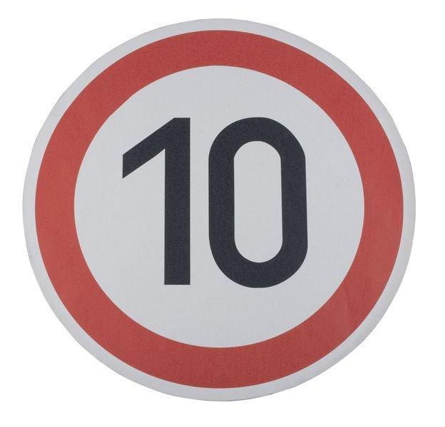 Höchstgeschwindigkeit 10 – Asphaltfolie zur Straßenmarkierung, R10 nach DIN 51130/ASR A1.5/1,2
