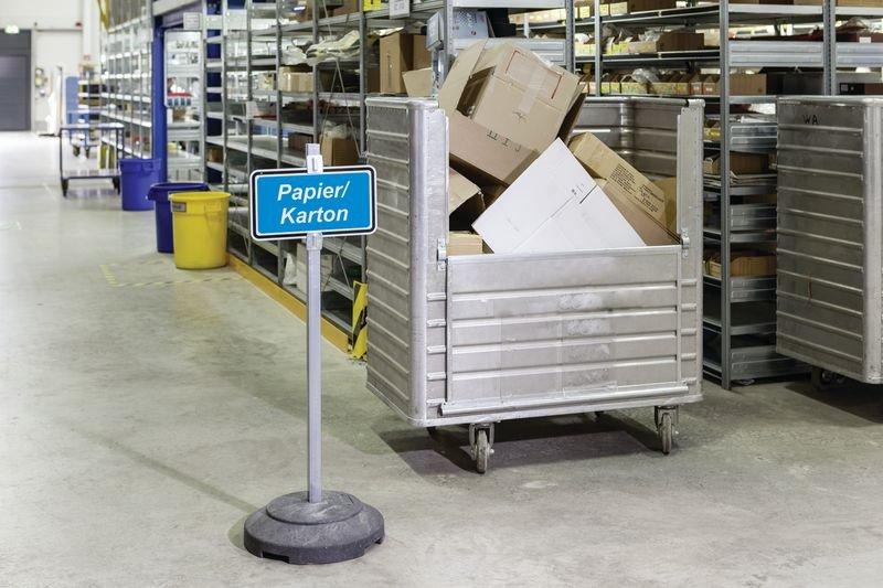Batterien - Wertstoffkennzeichnungs-Systeme, massiv - Abfalltrennung