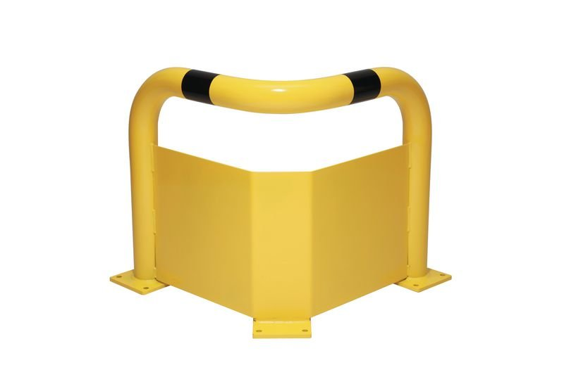 Eck-Rammschutz-Bügel mit Unterfahrschutz
