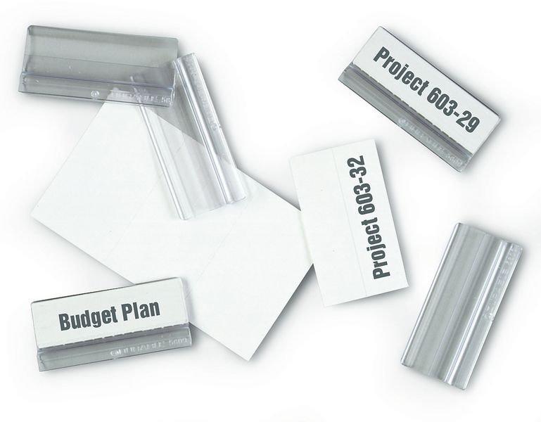 Vollsichtreiter für DURABLE Kunststoff-Sichttafel-Systeme, massiv