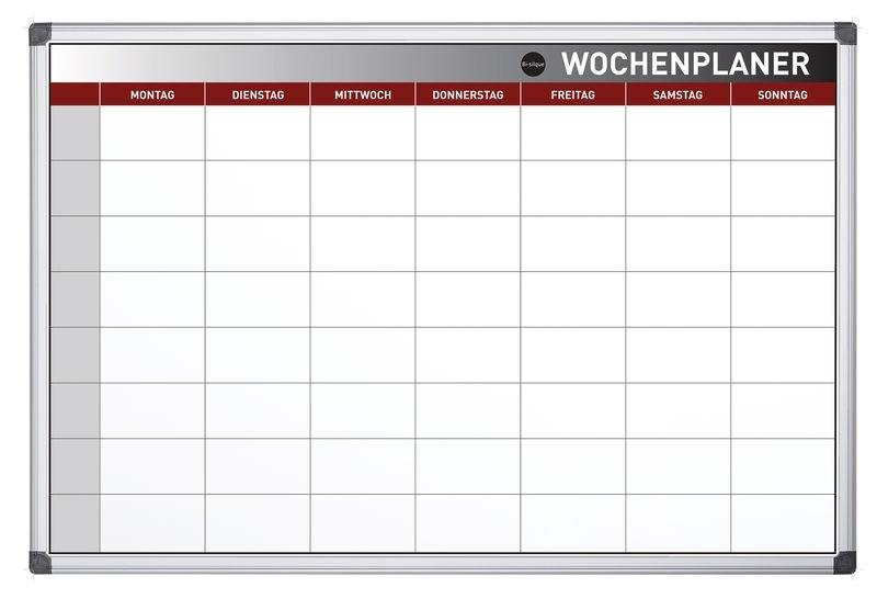 Bi-Office Wochenplanungstafel, magnetisch