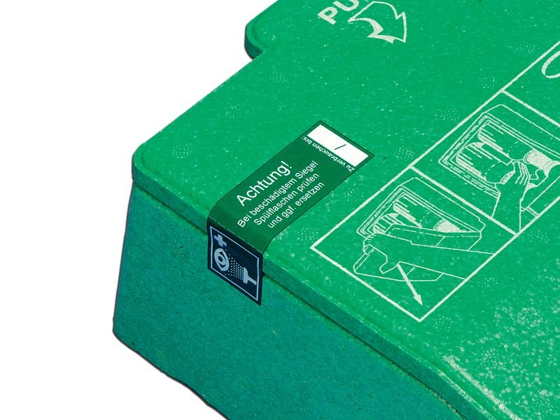 Prüfsiegel für Augenspül-Stationen - Sicherheitsetiketten und Sicherheitssiegel