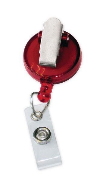 Jojo-Ausweishalter mit Clip, transluzent - Gebäudesicherheit