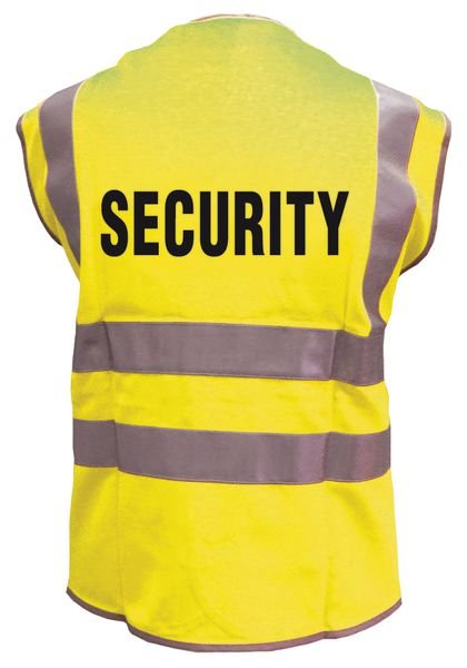 Warnwesten mit SECURITY Standardtext