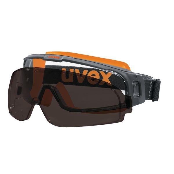 uvex Vollsichtbrille, mit Vorsatzscheibe