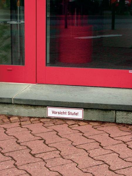 Vorsicht Stufe! - Hinweisschilder, Standard, einseitig