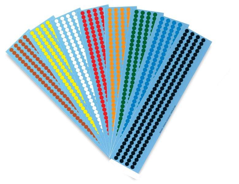 Mini-Folienetiketten, blanko, auf Bogen - Klebepunkte