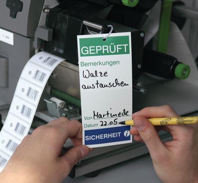 Elektrizitätssicherheit durchgeführt – Anhänger für Wartungs- und Inspektionsdaten