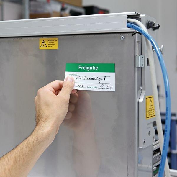 Freigabe - Magnetetiketten zur Qualitätssicherung