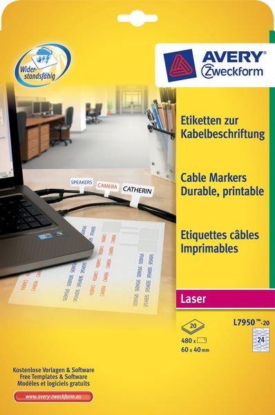 Etiketten zur Kabelbeschriftung für Laserdrucker