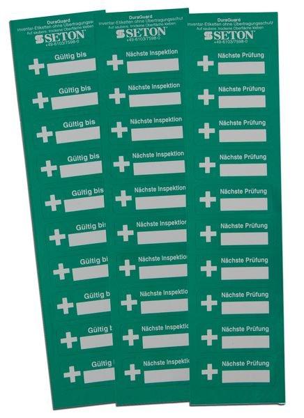 Nächste Prüfung - DuraGuard Prüfsiegel für Erste-Hilfe-Ausrüstung - Sicherheitsetiketten und Sicherheitssiegel