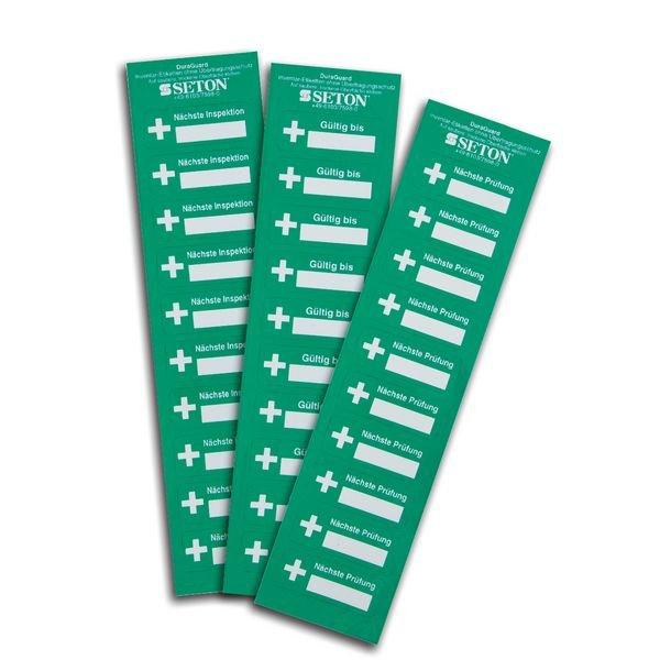 Nächste Prüfung - DuraGuard Prüfsiegel für Erste-Hilfe-Ausrüstung - Etiketten und Prüfplaketten