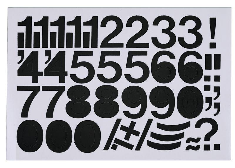 Ziffern-Aufkleber auf Einzelkarten, selbstklebend